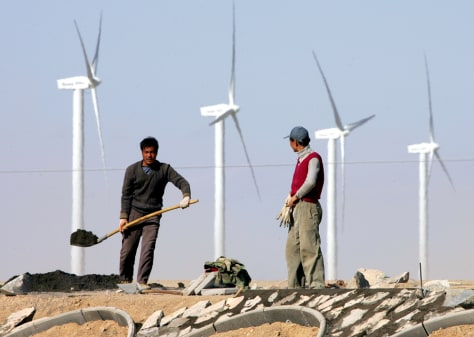 IMAGE: WIND FARM IN CHINA