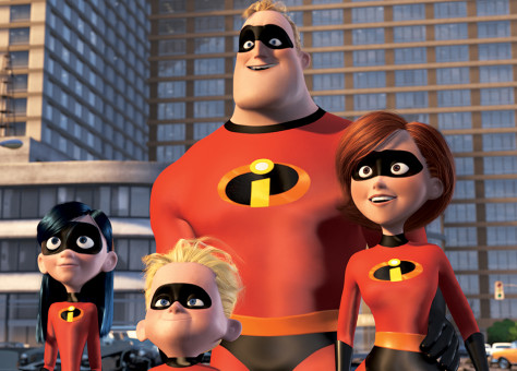 VIOLET PARR, DASHIEL 'DASH' PARR, MR. INCREDIBLE, AND ELASTICGIRL