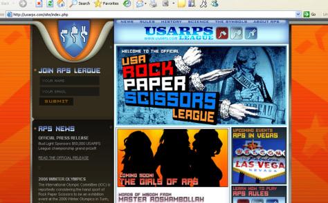 USA Rock Paper Scissors League Web site