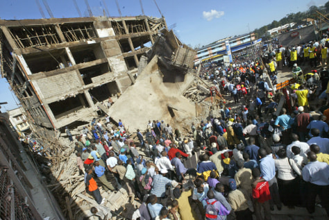 Image: Collapsed building.