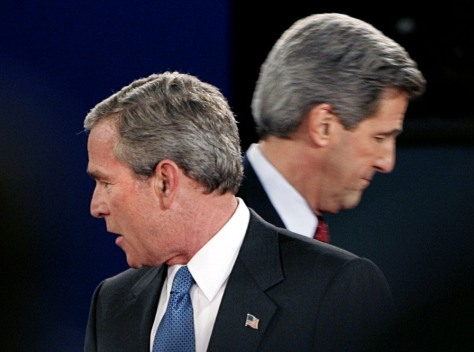 Bush and Kerry after 2004 debate
