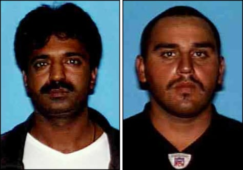 Image: Ishtiaq Hussain, 38, and Jose Antonio Barajas, 22