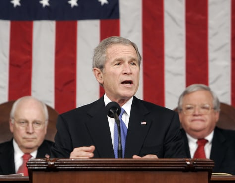 US President Bush delivers State of the Union address to a joint session of Congress in Washington