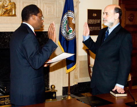 BERNANKE SWORN IN