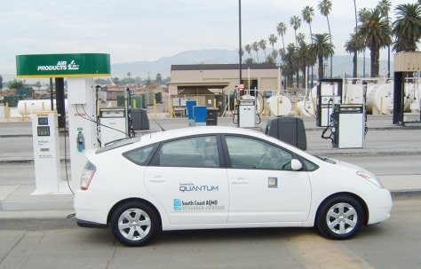 IMAGE: PRIUS CONVERTED TO RUN ON HYDROGEN