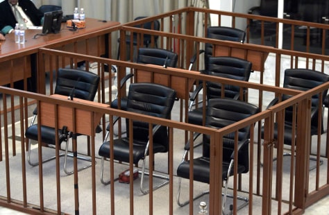 IMAGE: Empty defendants' dock