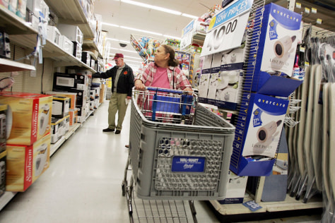 Wal-Mart shoppers