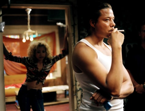 Publicity picture of actor Howard in a scene from 'Hustle and Flow'