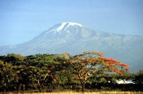Mount Kilimanjaro in Tanzania.