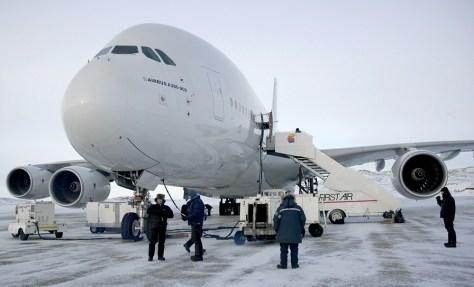 Airbus A380 in Iqaluit, Nunavut