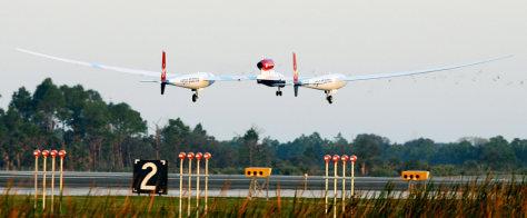 The Virgin Atlantic GlobalFlyer aircraft