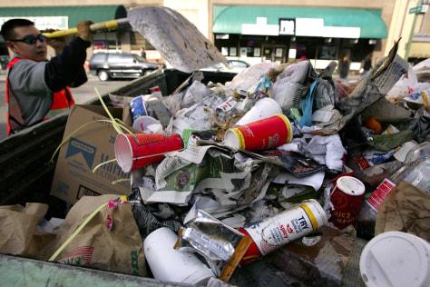 Fast-food litter