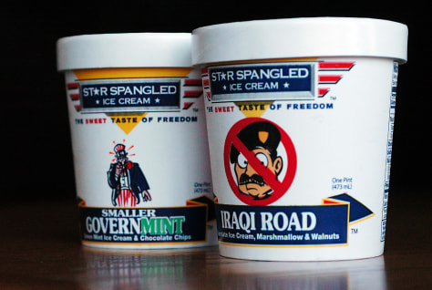 Image: Star Spangled Ice Cream cartons