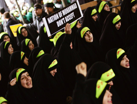 IMAGE: Hezbollah supporters protest caricatures