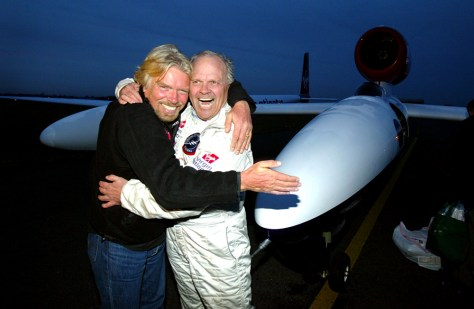 Image: Steve Fossett and Richard Branson