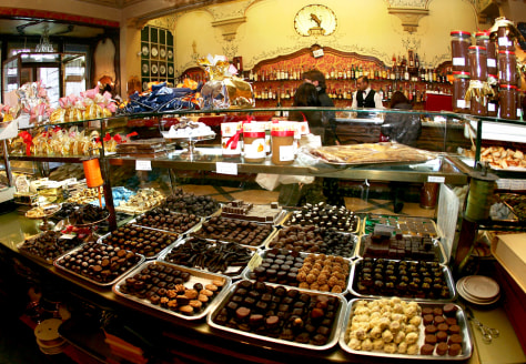 Image: Confectioner's shop in Turin