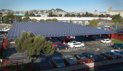 IMAGE: SOLAR PANELS IN PARKING LOT