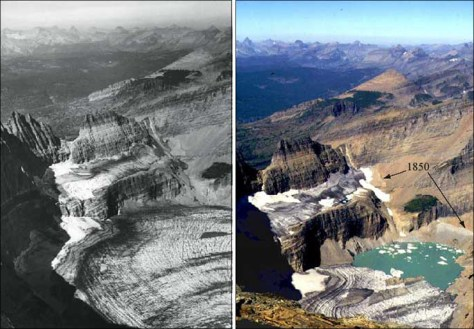 IMAGE: PHOTOS OF GLACIER IN RETREAT
