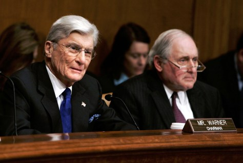 Sens. John Warner, R-VA, and Carl Levin, D-MI