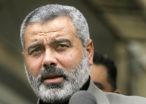 Image: Incoming Hamas Prime Minister Ismail Haniyeh