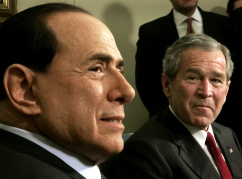 Image: Bush and Berlusconi