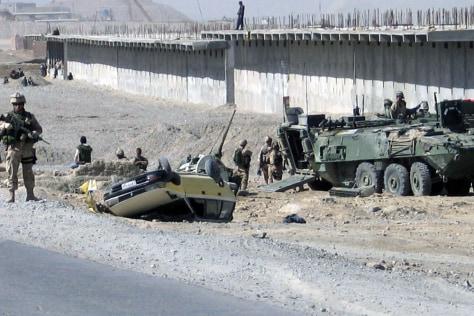 IMAGE: Canadian vehicle outside Kandahar