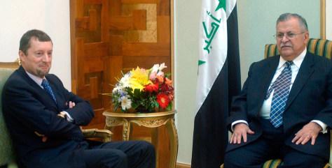 Image: Iraqi president Jalal Talabani, right