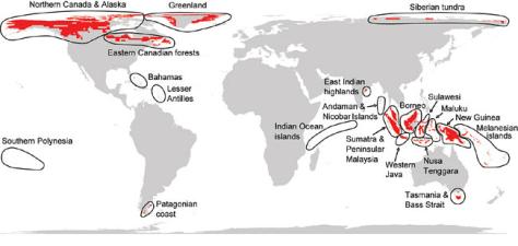 Image: Extinction hot spots