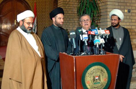 Image: Iraqi president, Shiite representatives