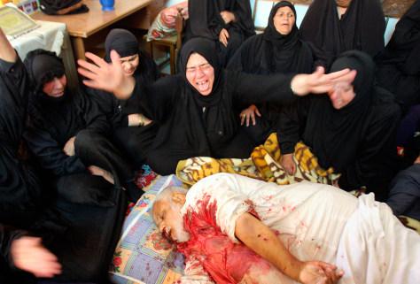 Image: Iraqis mourning