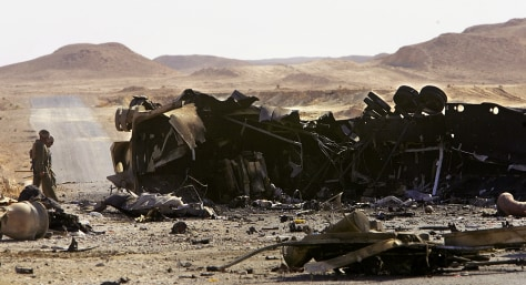 Image: Roadside bomb aftermath