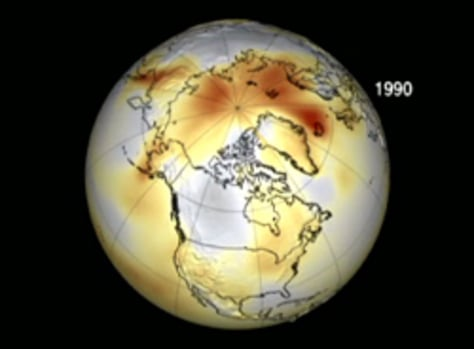 IMAGE: ILLUSTRATION OF WARMING AREAS IN NORTHERN HEMISPHERE