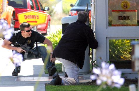 Image: Police outside Denny's