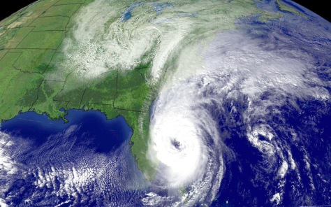 NOAA satellite image of Hurricane Wilma