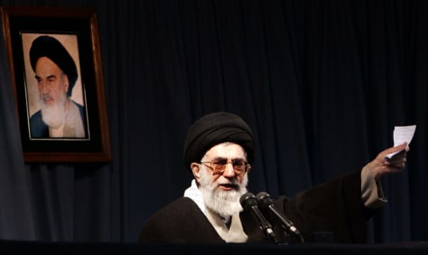 Iran's Supreme Leader Ayatollah Khamenei speaks in Mashhad