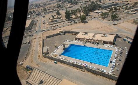 Image: Swimming pool at Balad air base