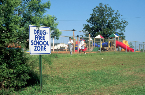 Image: Drug-free school zone