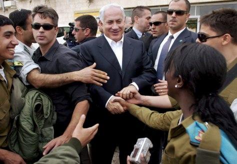 LIKUD LEADER BENJAMIN NETANYAHU VISITS THE WESTERN WALL IN JERUSALEM BEFORE GENERAL ELECTIONS