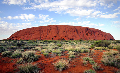 The monolith of Uluru (Ayers Rock)