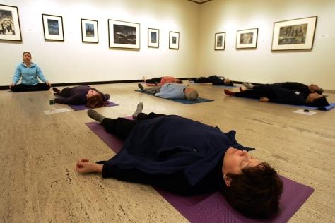 Image: Artsy yoga class