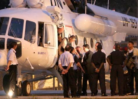 Former Liberian President Charles Taylor arrives in Sierra Leone