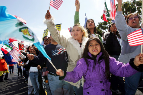 Image: Immigrant rights protesters