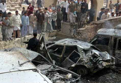 IMAGE: Destroyed car in Najaf