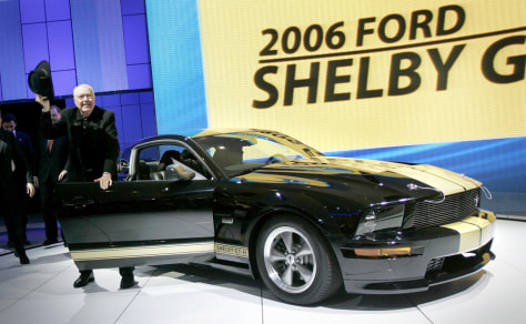 Carroll Shelby and a 2006 Ford Shelby Mustang GT-H