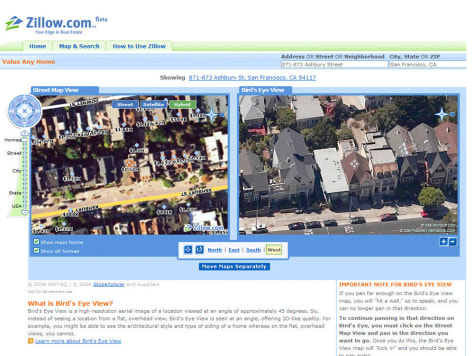 Zillow.com to offer a bird's-eye view - Technology & science - Tech on yandex maps, high quality maps, social studies maps, expedia maps, microsoft maps, pathfinder rpg maps, local maps, alternate history maps, tumblr maps, teaching maps, pictometry maps, geoportal maps, aerial maps, groundwater maps, fictional maps, walmart maps, civilization 5 maps, google maps, spanish speaking maps, mapquest maps,