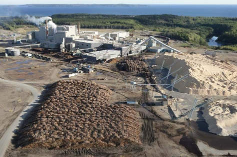 IMAGE: PAPER PULP MILL IN CANADA
