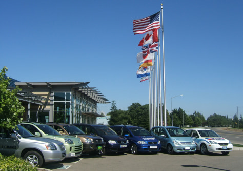 IMAGE: FUEL CELL VEHICLES AT RESEARCH CENTER