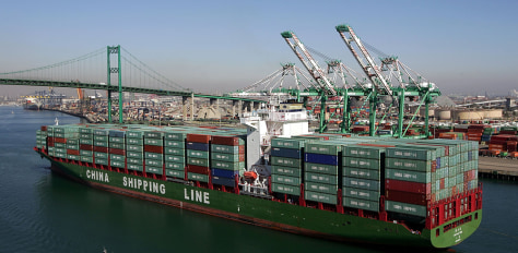 Image: Los Angeles port