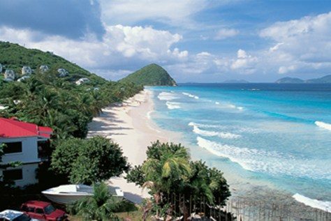 Image: The beach at Long Bay, Tortola