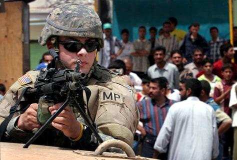 Image: U.S. military policeman